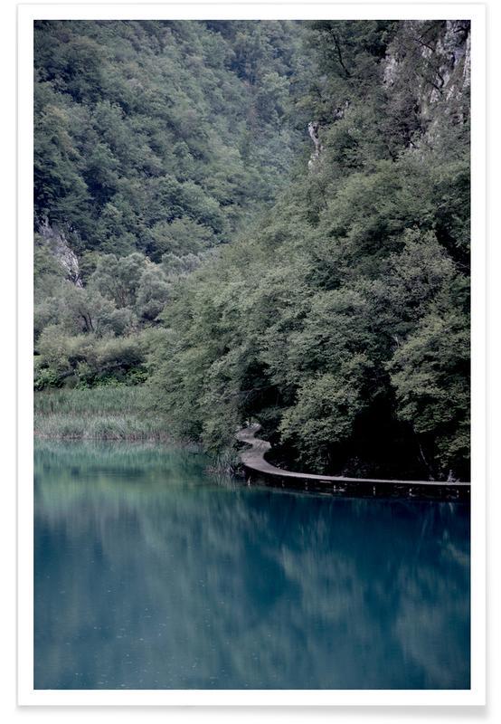 Abstracte landschappen, Bossen, Reizen, Bomen, The Path under Trees poster