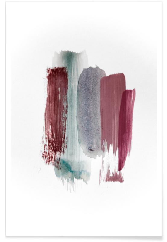 Aarde, Abstracte landschappen, Bossen, Bomen, Abstract Aquarelle - Earthy Colors of the Woods poster
