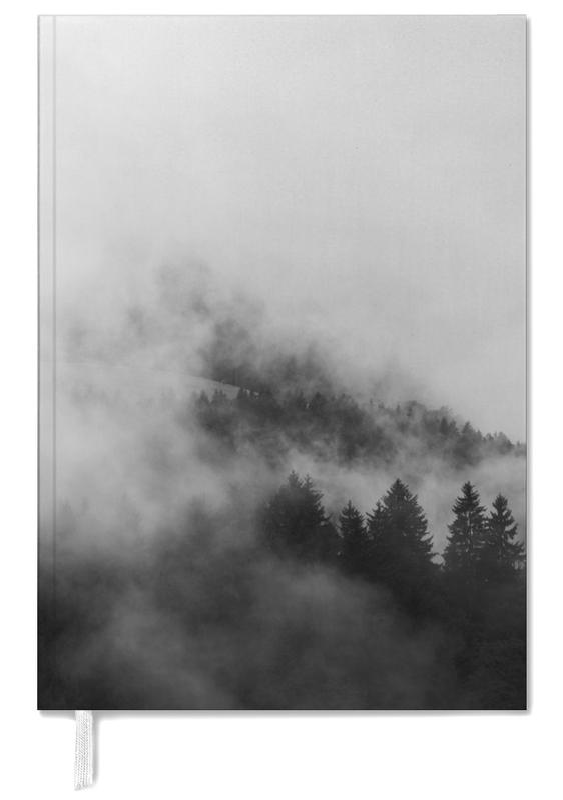 Reise, Abstrakte Landschaften, Himmel & Wolken, Berge, Wälder, Black Foggy Forests -Terminplaner