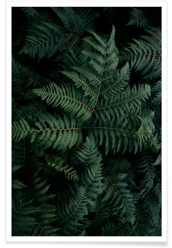 Feuilles & Plantes, Lush Forest Greens affiche