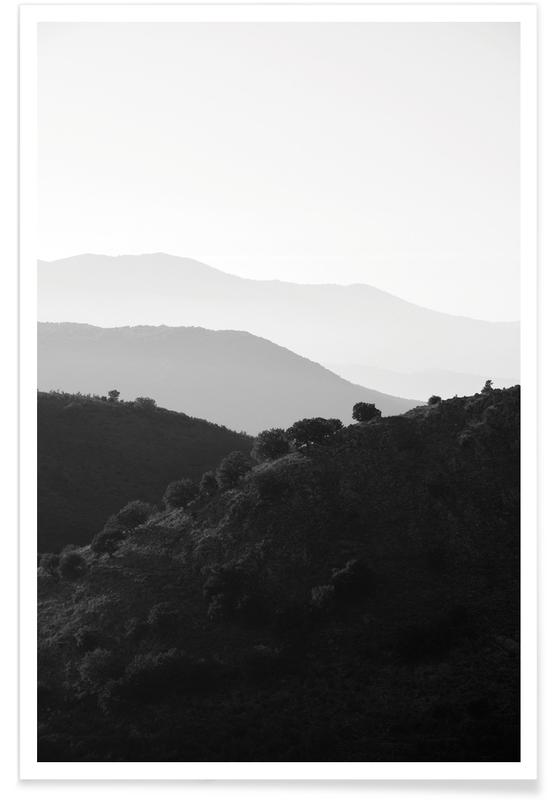 Montagnes, Noir & blanc, Mountains In The Shades Of Grey affiche