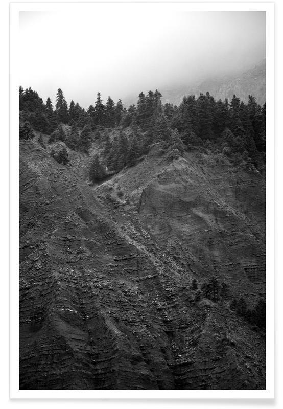 Mountains, Black & White, Mountain Dunes Poster