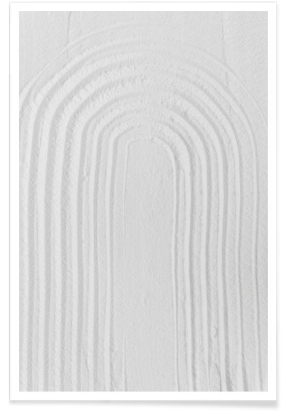 , White Textures 2 Minimal Rainbow Poster