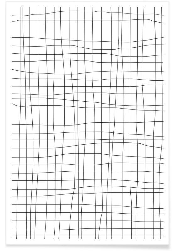 Noir & blanc, Motifs, Grid affiche