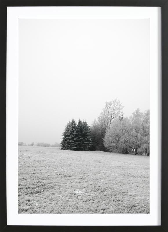 Winter Wonderland -Bild mit Holzrahmen