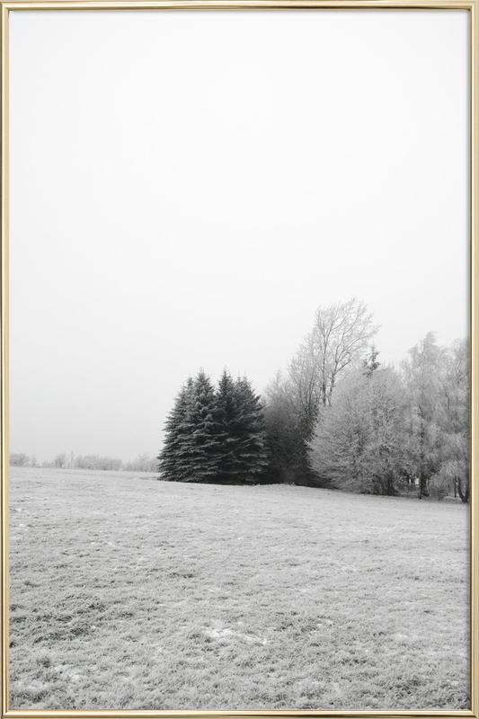 Winter Wonderland -Poster im Alurahmen