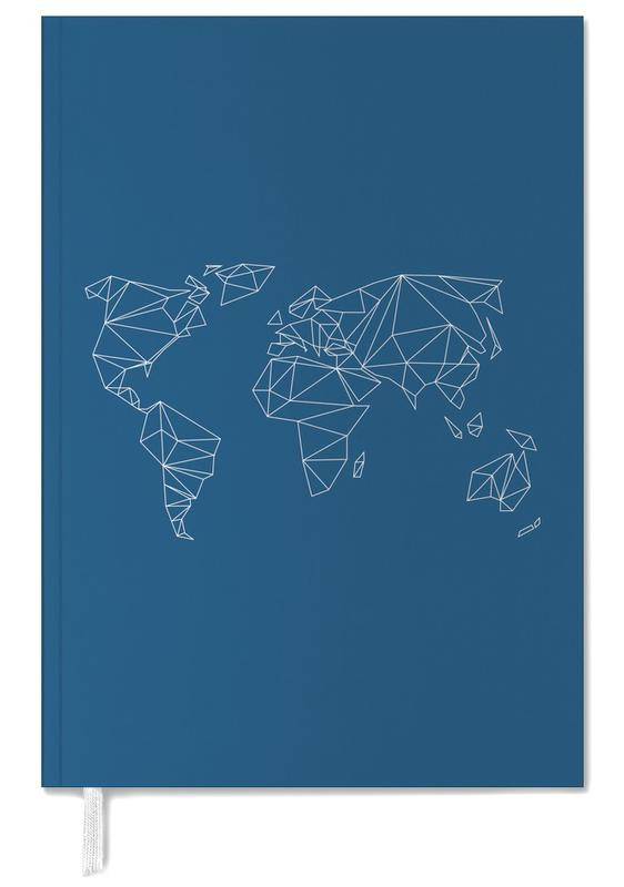 Geometrical World Indigo -Terminplaner