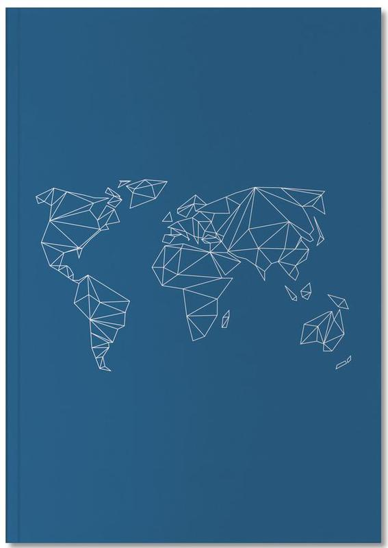 Geometrical World Indigo Notebook