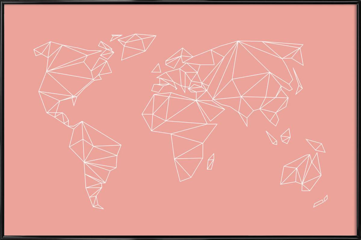Geometrical World Blush affiche encadrée
