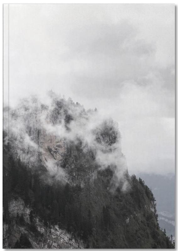 Black & White, Mountains, Let's go Hiking Notebook