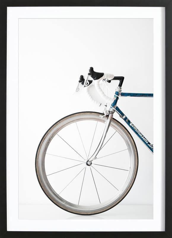 Ride my Bike -Bild mit Holzrahmen
