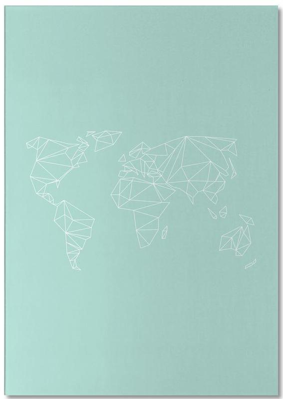 Geometrical World Green -Notizblock