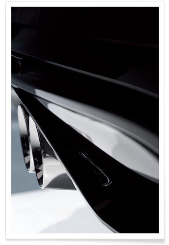 Schwarz & Weiß, Autos, Beauty Is In The Details 4/5 -Poster