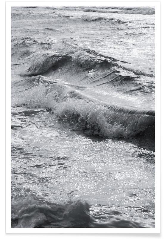 Zwart en wit, Oceanen, zeeën en meren, Take Me Surfing poster