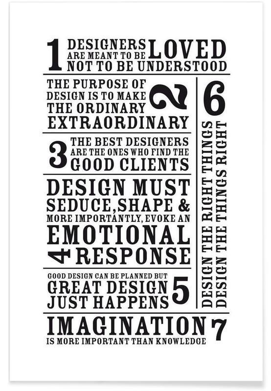 Zwart en wit, Quotes en slogans, 7 Rules poster