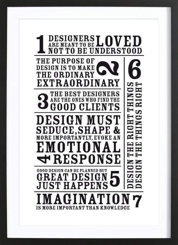 7 Rules Framed Print