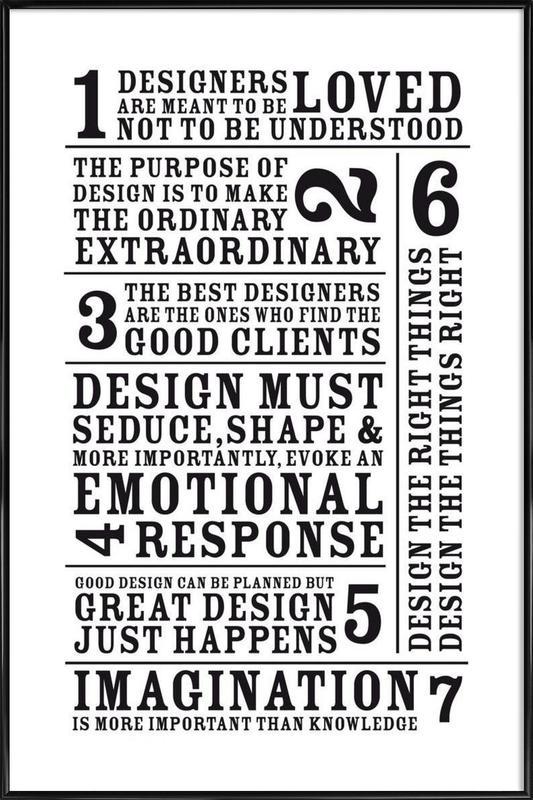 7 Rules Framed Poster