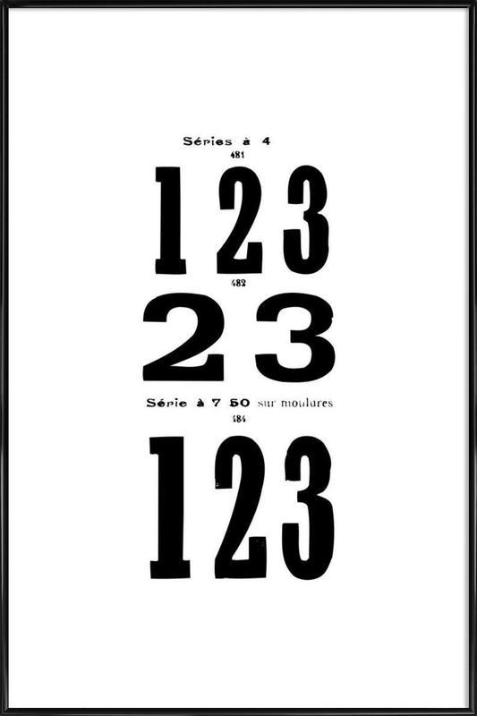 123 -Bild mit Kunststoffrahmen