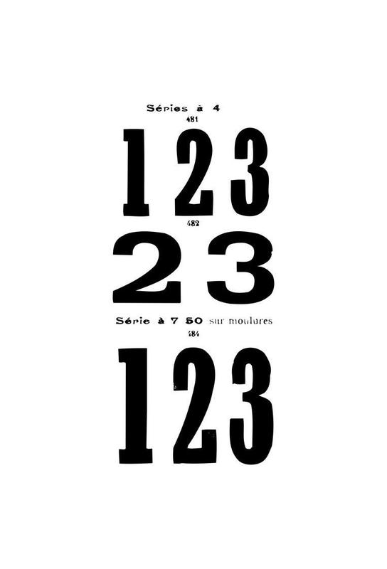 123 Aluminium Print
