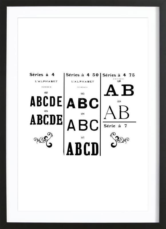 ABCD Framed Print