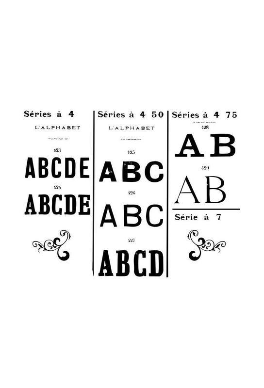 ABCD acrylglas print