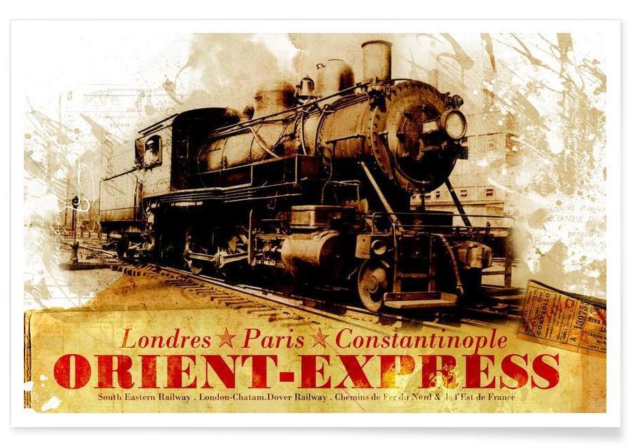 Trains, Travel, Ephemera 4 Poster