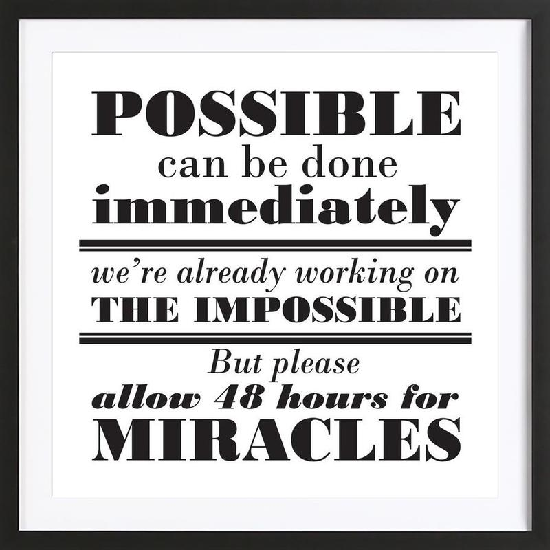 Possible Impossible Miracles Framed Print