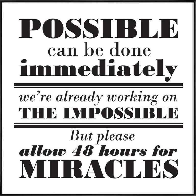 Possible Impossible Miracles -Bild mit Kunststoffrahmen