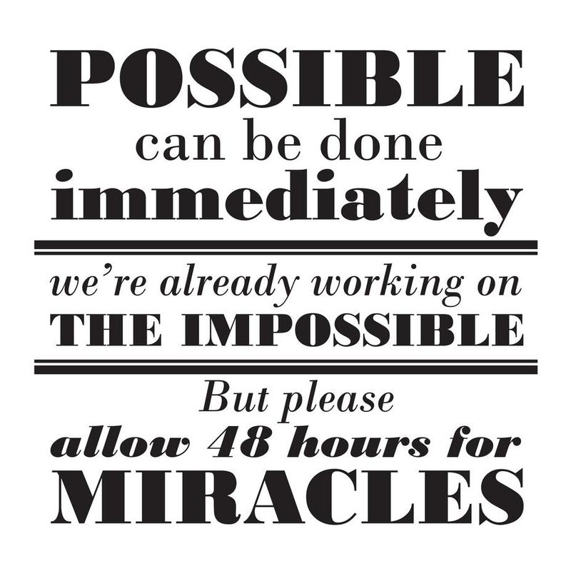 Possible Impossible Miracles alu dibond