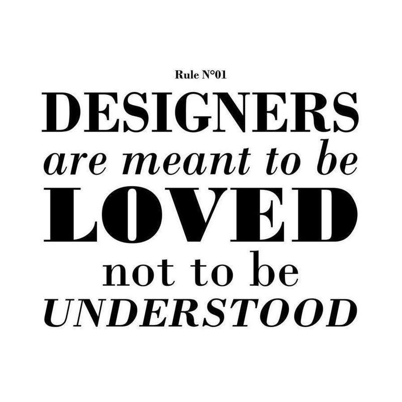 Rule 01 - Designer are meant.. -Leinwandbild