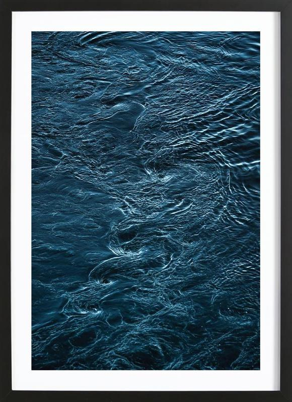The Waves In Between Framed Print