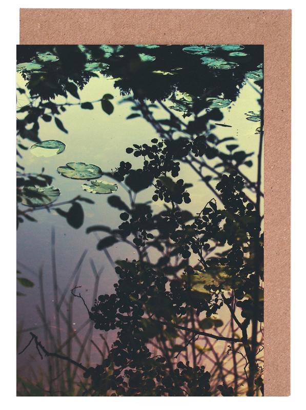 Blätter & Pflanzen, Ozeane, Meere & Seen, The Afternoon Lake -Grußkarten-Set