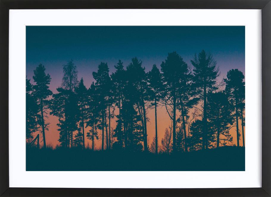 The Dawn affiche sous cadre en bois
