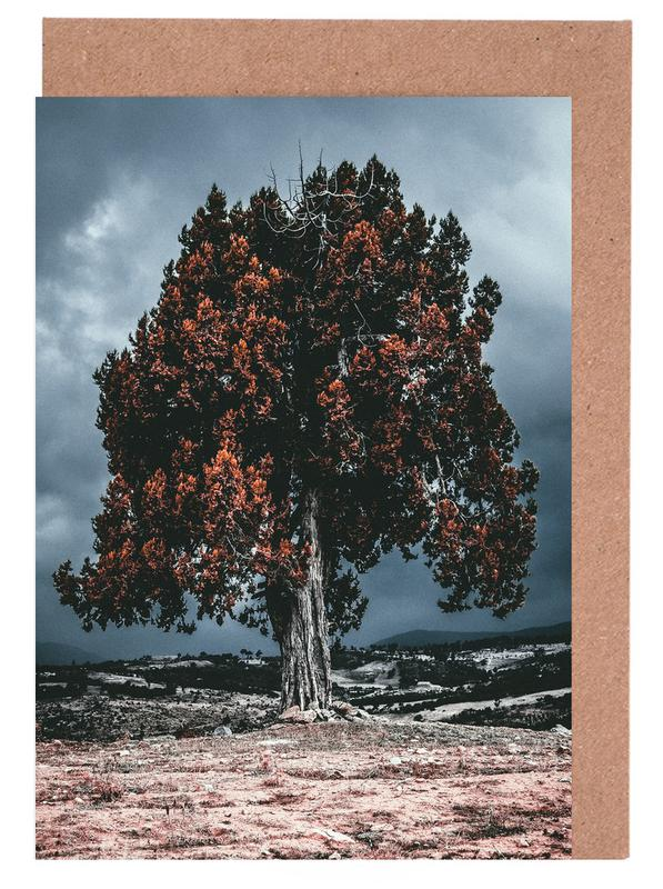 The Red Giant Tree Greeting Card Set