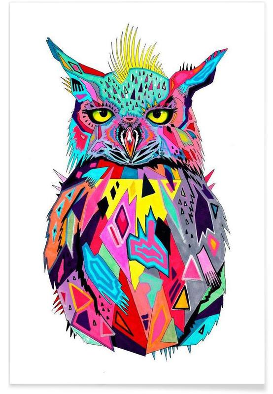 Abstract Owl -Poster