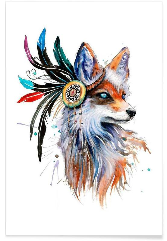 Foxes, In Nature Poster
