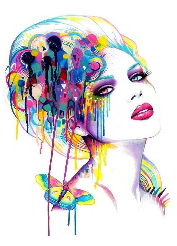 Color Portrait Canvas Print