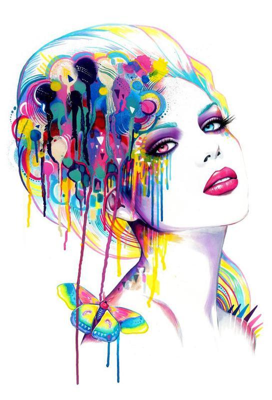 Color Portrait Acrylic Print