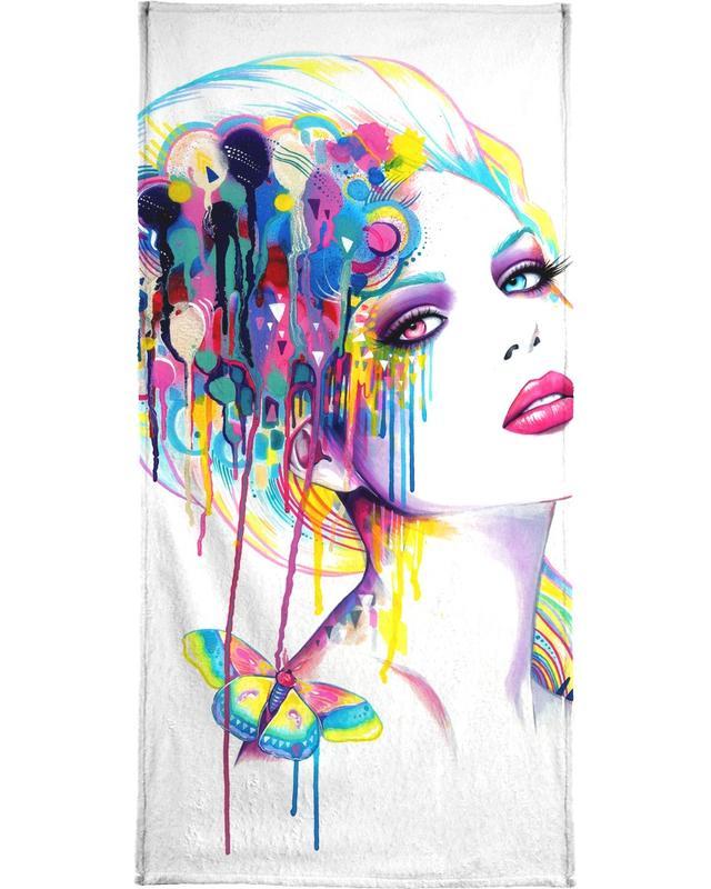 Color Portrait -Handtuch