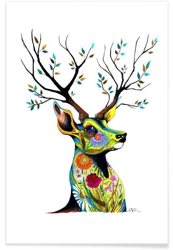Herten, Deer Nature poster