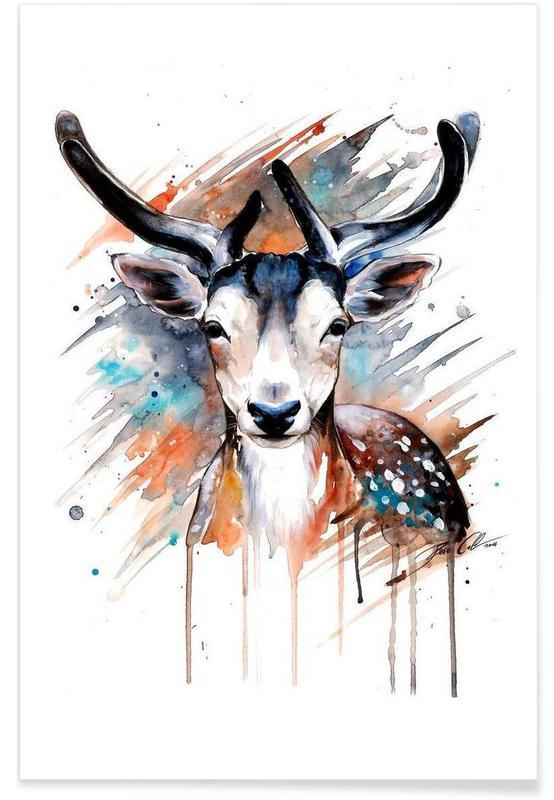 Deer, Deer Portrait Poster