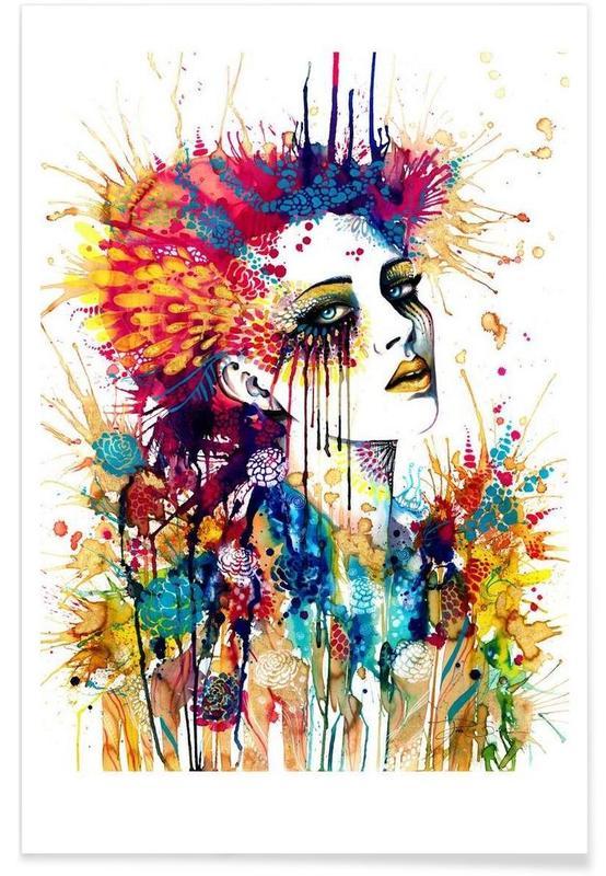Illustrations de mode, Portraits, Flora affiche
