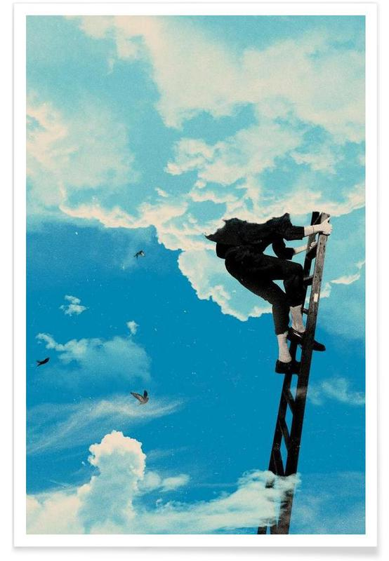 Skies & Clouds, Up There Poster
