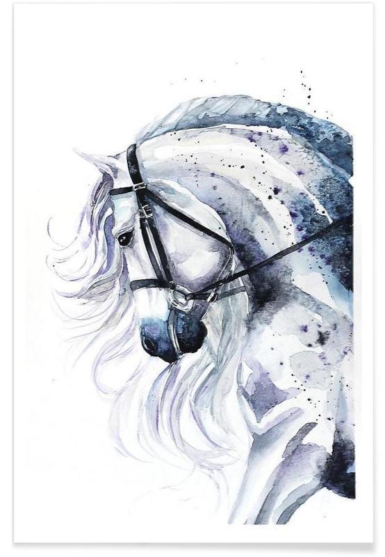Paarden, Horse portrait poster