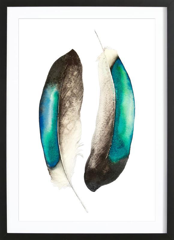 Feathers III ingelijste print