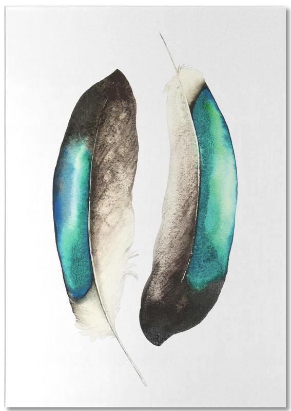 Federn, Feathers III -Notizblock