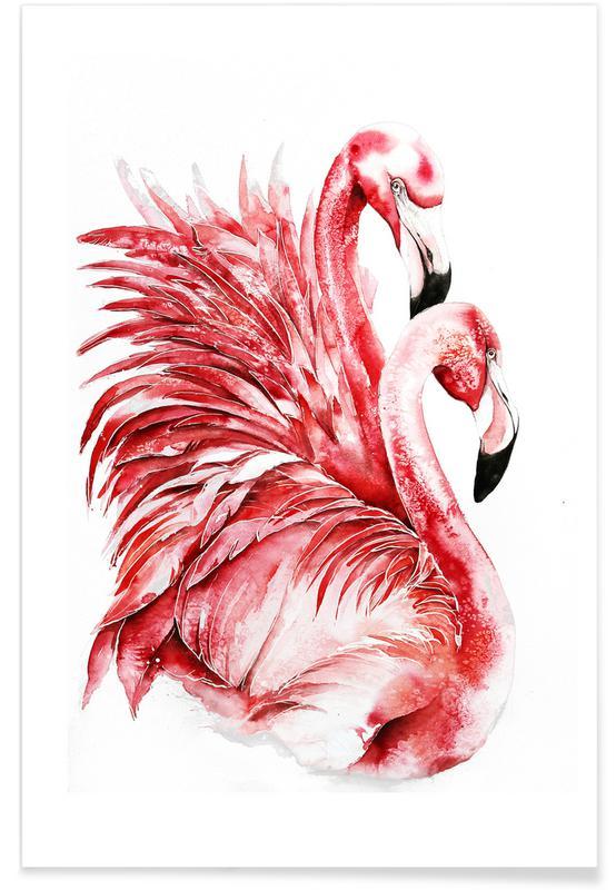 , Pink Flamingo II poster