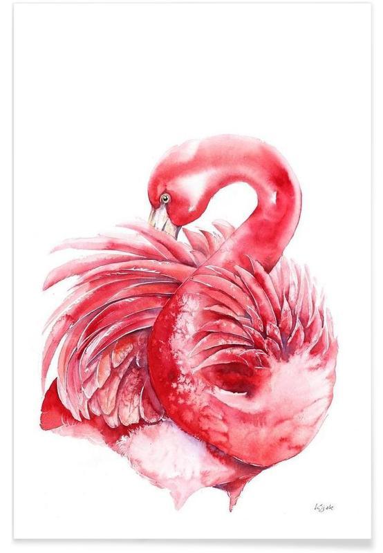 Flamingos, Pink Flamingo -Poster