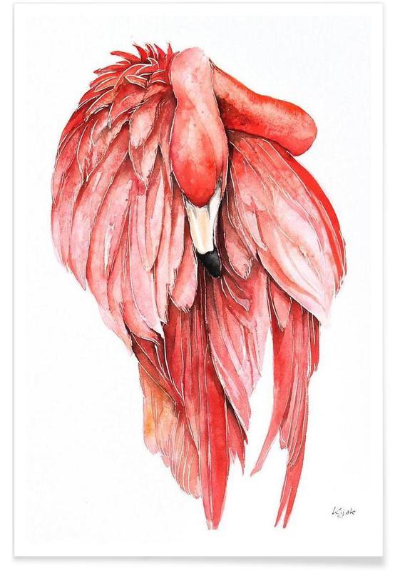 Flamingos, Pink Flamingo 2 -Poster