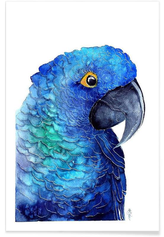 Parrot Ara -Poster